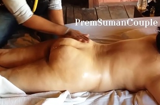 Desi wife Suman getting nude massage spouse filming [Part 1]