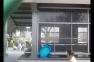 Delhi Students caught outside Delhi Metro in the Open