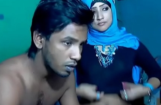 Newly Married South Indian Couple thither Ultra Hot Coddle WebCam Represent (7)