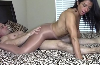 Shinny up away from grinding dick in pantyhose