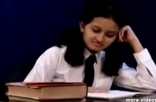 Horny Hot Indian PornStar Babe as School girl Squeezing Big Knockers and masturbating Part1 - indiansex