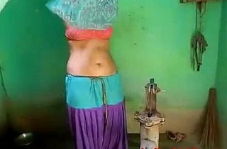 Newly Married Indian Wife Outdoor Shower - IndianHiddenCams.com