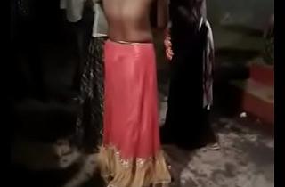 Public Desi bhabhi removing dresses while dancing
